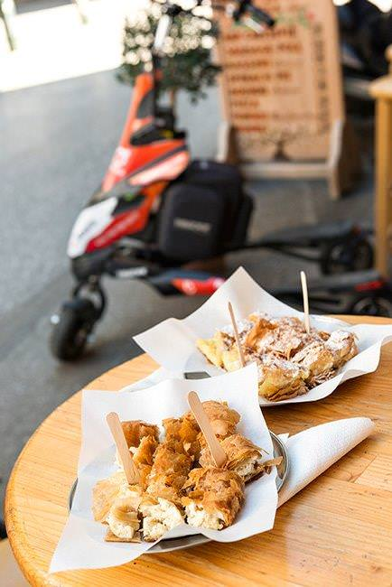 Athens Food Safari tour on Electric Trikke