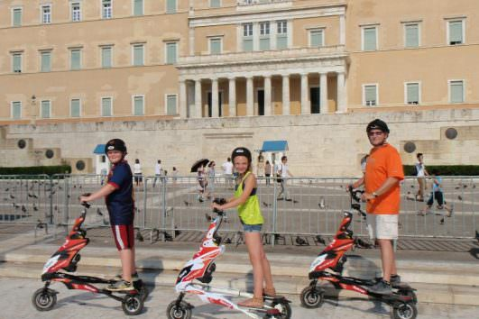 Athens Food Safari tour on Electric Trikke 3